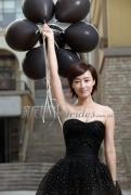 赵子琪展示清新唯美新娘造型