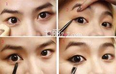 新手学化妆入门教程 假睫毛的贴法VS眼线的画法步骤图